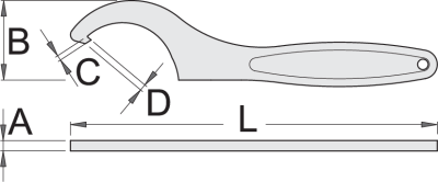 technický list - Kľúč hákový 255/2