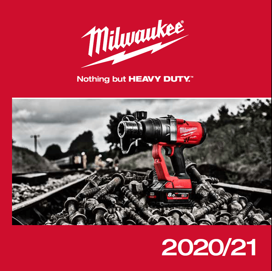 MILWAUKEE - katalóg strojov - 2020 - 2021