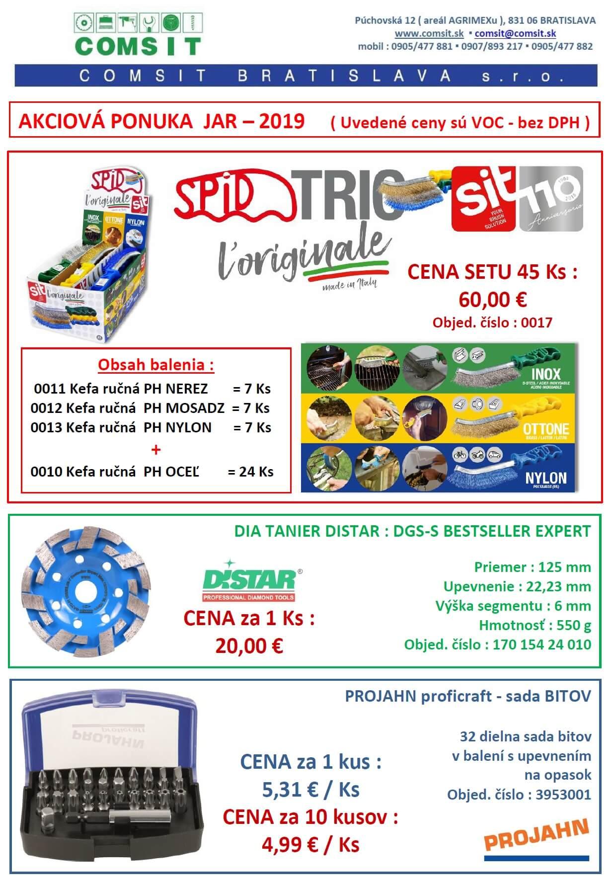 COMSIT BRATISLAVA s.r.o. - AKCIA  JAR - 2019