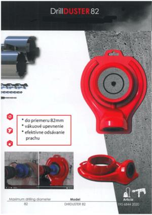 Zariadenie na odsávanie prachu do 82mm - DrillDUSTER82