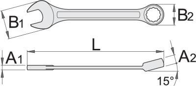 Kombinovaný kľúč, dlhý 120/1