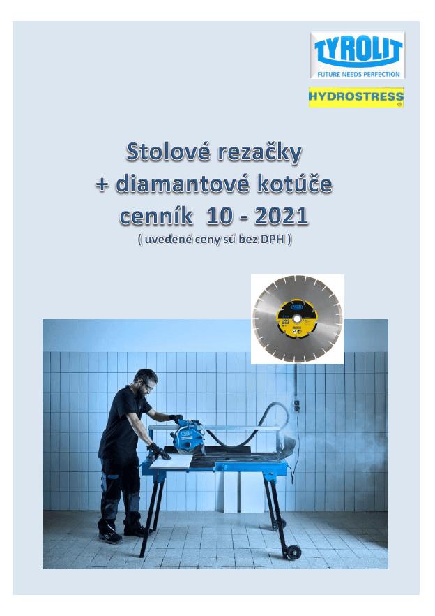 Cenník stolových rezačiek  10-2021