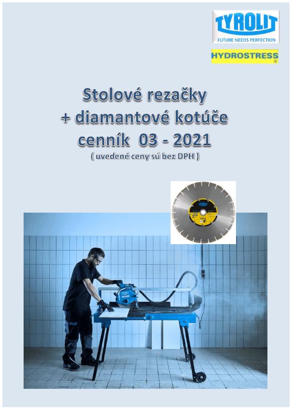 Cenník stolových rezačiek  03-2021