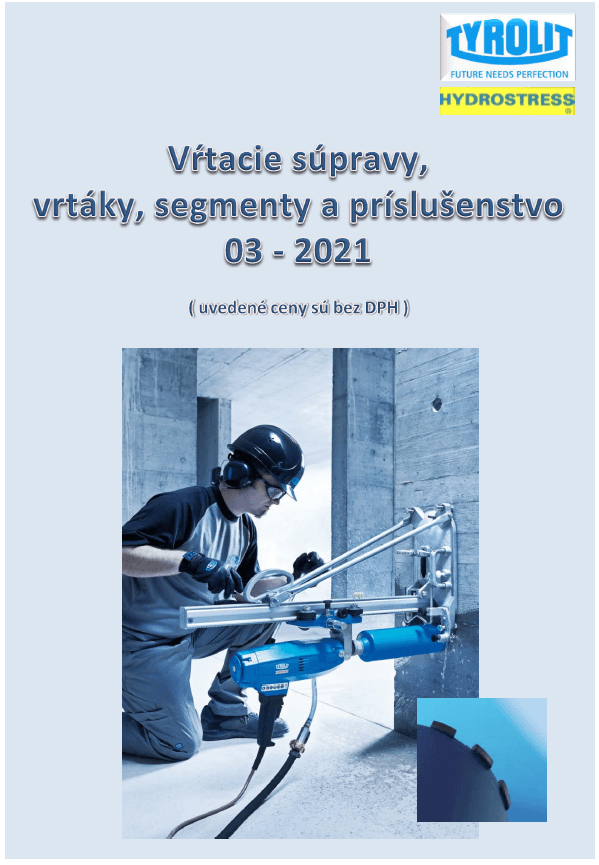 Cenník vŕtacích súprav, vrtákov, segmentov a prisl.  03-2021